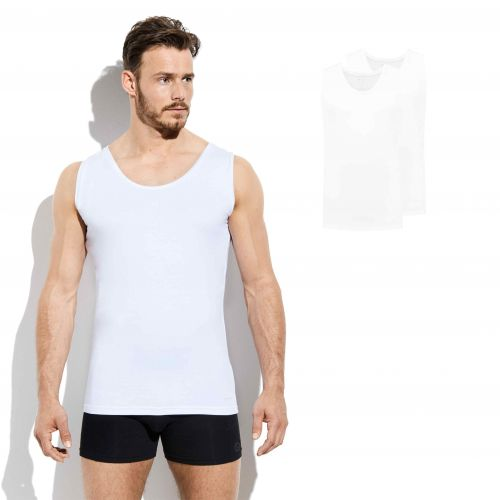 Bamigo Franklin Tank Top Weiß (2-er Pack)