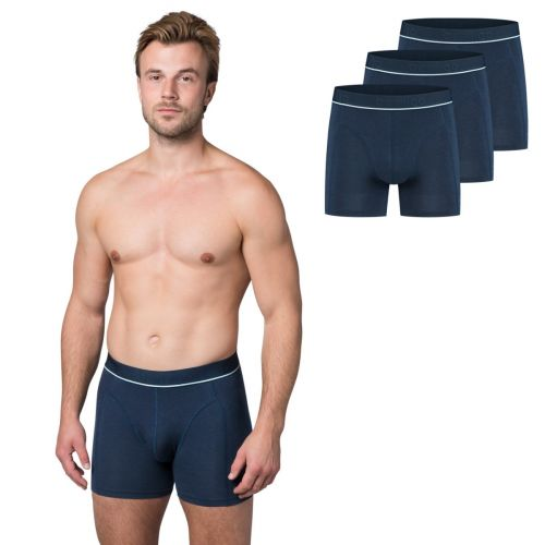 Bamigo Paul Slim Fit Boxershorts Klassisch Blau (3-er Pack)