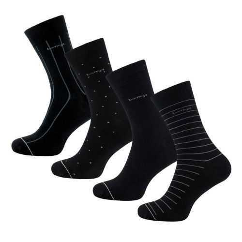 Bamigo James Socken Schwarzes Design (4-er Pack)