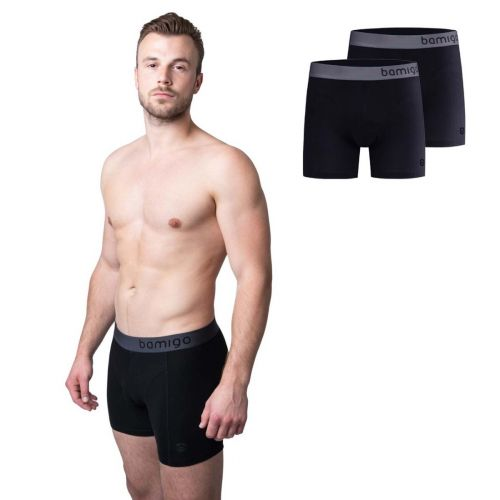 Bamigo Paul Slim Fit Boxershorts Schwarz (2-er Pack)