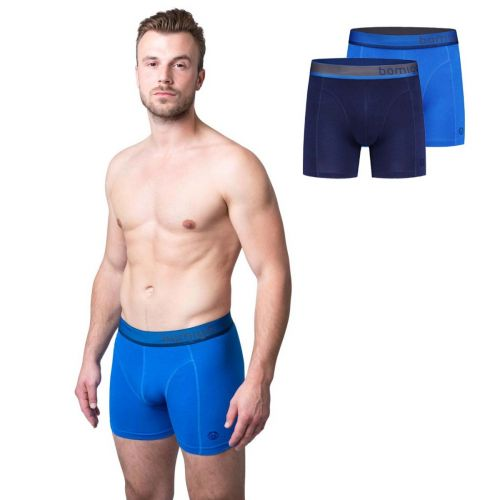 Bamigo Paul Slim Fit Boxershorts Blau (2-er Pack)