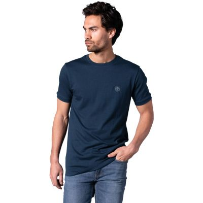 Bamigo Connor Lässiges T-Shirt Marineblau