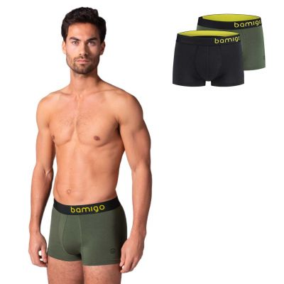 Bamigo Mason Slim Fit Trunks Olive-Graphite (2-pack)