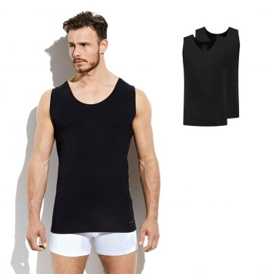 Bamigo Franklin Tank Top Schwarz (2-er Pack)