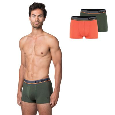 Bamigo Mason Slim Fit Korte Boxershorts Koraal-Groen (2-pack)