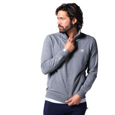Bamigo Theodore Zip Sweater Grey Melange