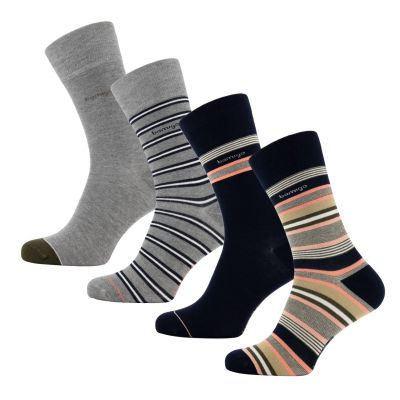 Bamigo James Socks Multi-Stripe Pink (4 pairs)