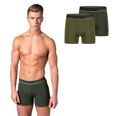Bamigo Paul Boxers Slim Fit Vert Kaki (Lot de 2)