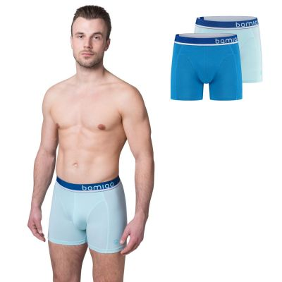 Bamigo Paul Slim Fit Boxershorts Hellblau (2-er Pack)
