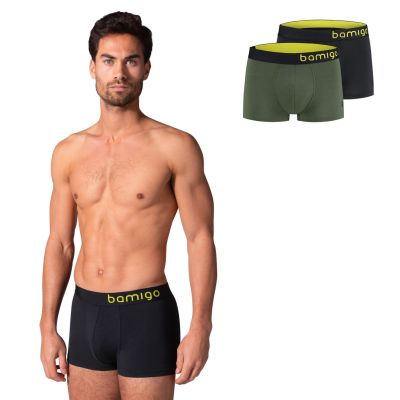 Bamigo Mason Slim Fit Shorts Oliv-Graphit (2-er Pack)