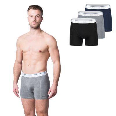Bamigo Paul Slim Fit Boxers Grey-Navy-Black (3-pack)