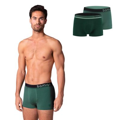 Bamigo Mason Slim Fit Shorts Grün (2-er Pack)