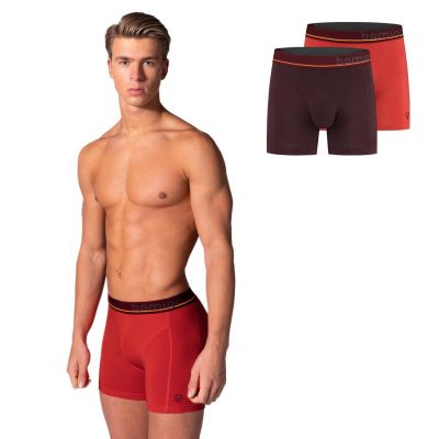 Bamigo Paul Slim Fit Boxershorts Rot-Bordeauxrot (2-er Pack)