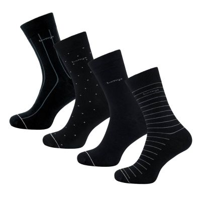 Bamigo James Socks Black Design (4-pack)