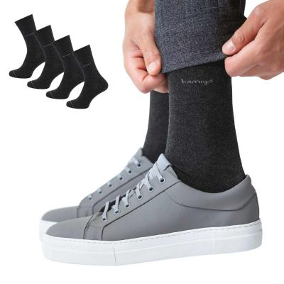 Bamigo James Socks Dark Grey (4-pack)