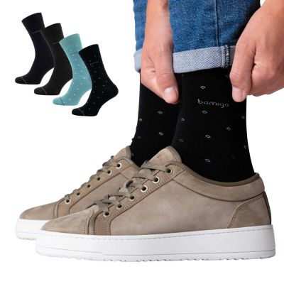 Bamigo James Socken Multicolor Grün Gepunktet (4-er Pack)