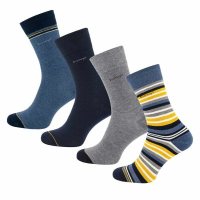 Bamigo James Socks Multicolor Stripe Yellow (4-pack)