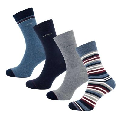 Bamigo James Socken Multi-Streifen Bordeaux (4-er Pack)