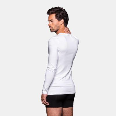 Bamigo Jones Slim Fit Long Sleeve T-shirt Round Neck White