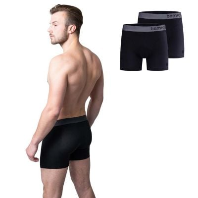 Bamigo Paul - Boxers longs slim fit Noir (Lot de 2)