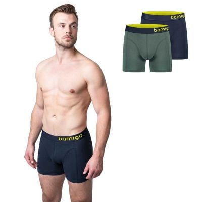 Bamigo Paul Slim Fit Boxers Olive-Graphite (2-pack)