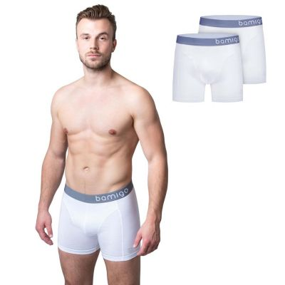 Bamigo Paul Slim Fit Boxershorts Weiß (2-er Pack)