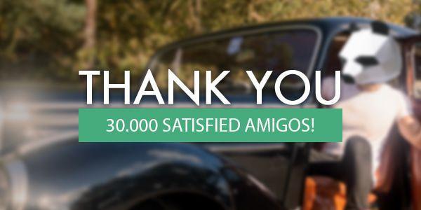 30.000 satisfied amigos!