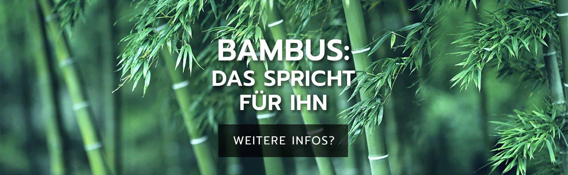 Bambus: Das spricht für Ihn