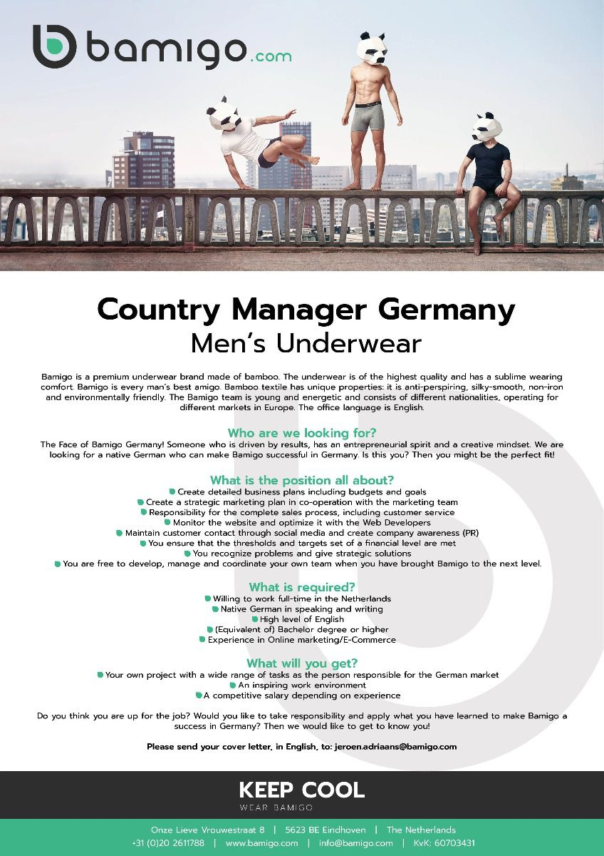 Vacature country manager Duitsland